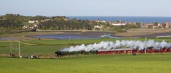 Flying Scotsman Alnmouth 2 (ianwyliephoto) Tags: york train scotland edinburgh engine loco steam northumberland alnmouth locomotive nationalrailwaymuseum flyingscotsman eastcoastmainline steamdreams 60103 may2016