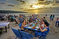 Sunset seafood dinner on Kuta Beach, Bali, Indonesia. (Lim Ph Nhm) Tags: sunset dinner seafood kuta kutabeach seafooddinner sunsetdinner seafoodsunsetdinner