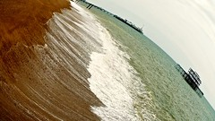 A Different Perspective (bimbler2009) Tags: ocean sea sky beach pier angle fisheye westpier palacepier movementmotion natureoutdoors fujifilms9900w
