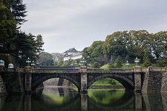 Imperial Palace (Rjfos) Tags: travel bridge trees reflection castle water japan architecture temple tokyo palace imperial