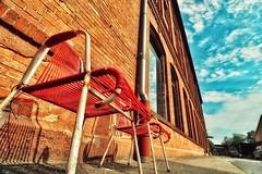 Old chairs... (hobbit68) Tags: old sky clouds canon outdoor alt frankfurt sommer fenster himmel wolken haus ruine sonne industrie sonnenschein verfallen
