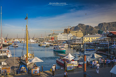Victoria & Alfred Waterfront (Chiara Salvadori) Tags: ocean africa old travel winter sea colors port vintage southafrica town spring waterfront harbour outdoor postcard capetown atlantic traveling tablemountain capepeninsula sudafrica victoriaalfredwaterfront