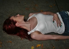 Neck Muscles and Veins (PhotoAmateur1) Tags: pink blue autumn red woman white sexy beautiful beauty face crimson muscles shirt female night contrast scarlet dark hair neck skinny book evening photo outfit model glamour eyes colorful closed long pretty shoot tank arms angle head sleep top feminine gorgeous chest femme side fingers profile dream young style lips redhead jeans fantasy cover attractive horror denim artery session shorts nightmare veins shoulders lovely thin cleavage stretched turned distress throat slender stylish laying damsel sportswear