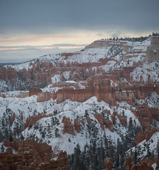 Sunrise in Utah (armand.gerstenberger) Tags: ifttt 500px utah bryce us southwest armand gerstenberger d810 nikon panorama snow mountain mountains red orange landscape sky clouds sunrise national park