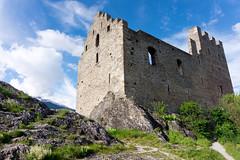 Tourbillon Castle ruins (sabrandt) Tags: castle switzerland ruins chateau sion valais tourbillon