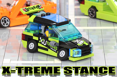 Dominic's Stanced Compact (Tamotsu_4WLC) Tags: car lego tuner custom nos racer stance camber 4wlc