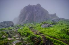 5 Clachnaben Peak (daedmike) Tags: cloud mist mountain fog scotland haze stair path steps peak hills trail summit volcanicrock hillwalking clachnaben glendye