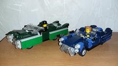 Pre-War Fallout cars (Brickule) Tags: robot lego apocalypse 50s fallout apoc corvega