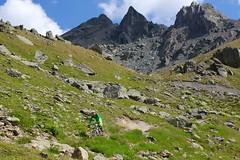 Mountain biking. Silvretta Arena. (elsa11) Tags: silvrettaarena mountainbiking mountainsbikers flimjoch idalp ischgl paznaun paznaunvalley tirol tyrol austria sterreich oostenrijk alps alpen mountains