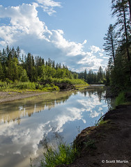 IMG_9954 (Scott Martin Calgary) Tags: ca trees canada calgary water clouds reflections alberta fishcreek fishcreekprovincialpark