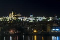 Hradcany (Gabriela__F) Tags: prague praha czechrepublic europe architecture praguecastle hradcany vltava river night nightphotography outdoor