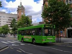 K&H Doyle 712 Nottingham (Guy Arab UF) Tags: kh doyle nottingham derbyshire independent buses dennis dart plaxton pointer mpd bus x712cca super travel liverpool x1stm