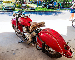 Indian Chieftain (hz536n/George Thomas) Tags: summer copyright canon rust michigan indian rusty motorcycle canon5d flint carshow chieftain 2016 ef1740mmf4lusm cs5 sloanmuseum sloanmuseumautofair