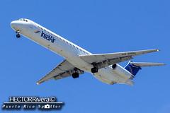 P4-MDH Ex American & TWA N974TW (Hector A Rivera Valentin) Tags: cn airport san juan air aruba insel international sju mcdonnelldouglas md80 tjsj p4mdh 53624