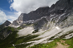 Ragged slopes of Dachstein (smir_001 (on/off)) Tags: austria styria ramsauamdachstein ramsau landscape trail6 rondweg6 july summer austria2016 mountains dachstein beautiful hiking tourism walking sdwandhtter vista outdoor view panorama pano sterreich