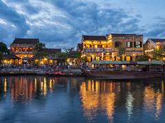 Hoi An Ancient Town (Maren 86) Tags: vietnam asia travel night evening low light reflection water river lumixg7 microfourthirds