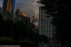 Golden Hour In Millennium Park.jpg (Milosh Kosanovich) Tags: dxoopticspro11 chicagophotographicart goldenhour exposureblending precisiondigitalphotography dark miloshkosanovich chicagophotoart chicago mickchgo nikkor28300f3556 chicagophotographicartscom millenniumpark nikond800e