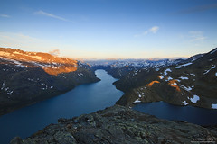 """Morning Glory"" (Explore) (ScenicMotion) Tags: norway norge jotunheimen jotunheimennasjonalpark besseggen gjende bessvatnet mountain sunrise alpenglow scenery hiking trekking morning lake"