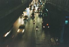 city (cindylamsteryo) Tags: film outdoor road night light traffic bkk