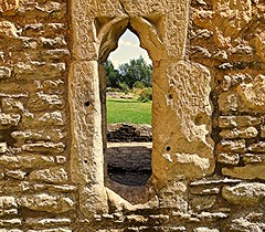 Ruin window! (springblossom3) Tags: ruins architecture relic oxfordshire minster lovell cotswolds west nature landscape view tourism