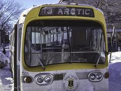 Arctic Express 13-Edit (uselessbay) Tags: 1978 canon canonf1 f1 kodakektar100 providence rhodeisland uselessbayphotography williamtalley blizzard bus film uselessbay winter