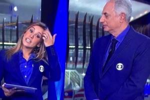 """Apresentadores se alfinetam ao vivo e expõem climão no """"Jornal da Globo"""""""
