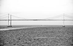 Chesapeake Bay Bridge (-gregg-) Tags: bw bay bridge maryland water boat sky
