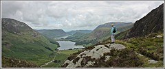 Taking in the view. (stu.bloggs..Dont do Sundays) Tags: buttermere crummockwater valley mrsbloggs landscape lakes lakedistrict lakeland mountains fells hills mellbreak buttermeremoss haystacks rockyoutcrops rocks views view vista overview summer july 2016 cumbria clouds paths