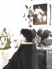 (AHMH - Coutre) Tags: fashiondoll ahmhcuture flawless elise 1876 historic dress lobster bustle handmade doll fashion heavy silk fabric