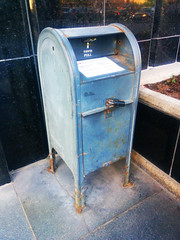 Old Canada Post Mailbox (Exile on Ontario St) Tags: montreal mailbox letterbox postescanada canadapost boteauxlettres letter letters box mail courrier postes canada post montral bote aux lettres vieux old ancien fer metal iron rusty rust rouille rouill vintage retro locked padlock tirer pull revenu agence revenue agency federal government building gouvernement bureau bureaux