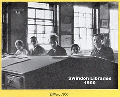 1900: GWR Offices at Swindon Works (Local Studies, Swindon Central Library) Tags: 1956 1950s br brwr swindon westernregion gwr swindonworks wiltshire britishrailways 1900 victorian 1900s offices office