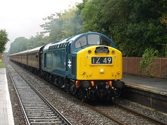 British Rail Class 40 40145/345 thrashes through Hall Green (Oz_97) Tags: hallgreen d345 345 westcoastrailways britishrail 40145
