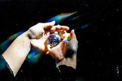 arctica (StefanoMajno) Tags: hands miriam analog analogue stefano majno analogica pellicola model mirrorball beauty sensual lips lights sunbeam rays sun canon 35mm from above filmisnotdead shooting film vintage camera kodak 400 asa portrait color lomo lomography surrealism lomofilm night girl primo piano analogico bokeh luci urbex abandoned place villa urban explorer italy rainbow