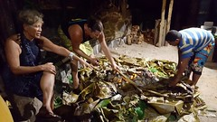 While banana leaves are being removed to reveal the food in the UMU, Tisa tells us about this ancient Polynesian cooking method