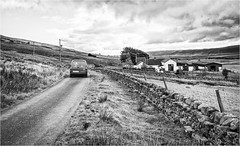 Harwood . (wayman2011) Tags: canon50d lightroom wayman2011 bwlandscapes mono farms roads drystonewalls postmen pennines dales teesdale harwood countydurham uk