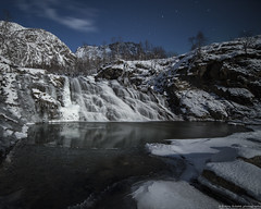 Lunar landscape (Ronny rbekk) Tags: winter light moon mountain ice norway canon river norge is waterfall mood photographer arctic norwegian nordnorge mne elv northernnorway ronnyrbekk