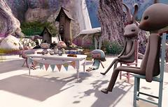 Snow Bunnies (Teddi Beres) Tags: life winter snow cute rabbit bunny whimsy funny picnic poem sl second snowbunny