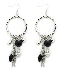 5th Avenue Black Earrings P5130-2