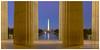 Washington Twilight (Anna Wrobel) Tags: longexposure architecture sunrise washingtondc columns lincolnmemorial monuments washingtonmonument nationaltreasures districtofcolumia