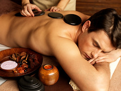 man having stone massage in spa salon (tigercop2k3) Tags: man hot male guy beautiful beauty horizontal stone relax one back healthy quiet adult body young relaxing calming handsome calm indoors health massage serenity rest salon recreation meditation therapy care relaxation shoulder lowkey spa pleasure sapa wellness treatment caucasian lyingdown masseur bodycare russianfederation closedeye massaging pampering pamper