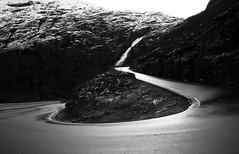 Bend (CNorthExplores) Tags: road travel autumn bw monochrome norway canon trollstigen g11 møreogromsdal stigfossen