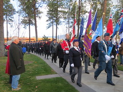 Flag bearers (jamica1) Tags: park november canada day bc okanagan columbia flags service british kelowna rutland 11th remembrance 2014