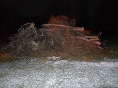 The bonfire on New Year's Eve was a bit too big and the wind a bit too high.  We had to build a smaller one