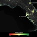 Satellite Sees Holiday Lights Brighten Cities - Florida