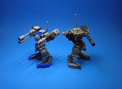 ADS Model CEP-D410 'Fredo' - Overview 2 (Jay Biquadrate) Tags: lego mecha mech moc microscale mfz mf0 mobileframezero