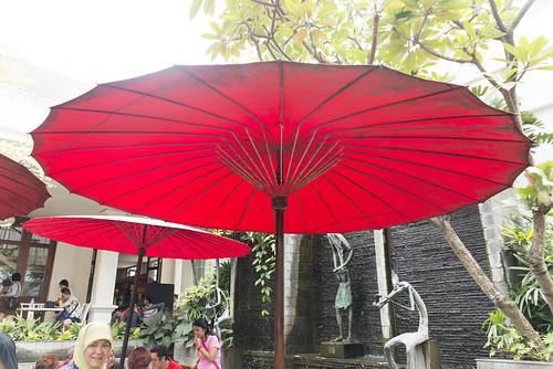 Red umbrellas, Bandung