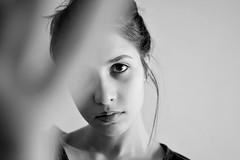 (marikacaliumi) Tags: light portrait blackandwhite selfportrait eye girl self 35mm myself photography photo model nikon photographer skin portraiture nikond3100