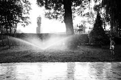 Shower in the park (D. Kutz) Tags: life park summer bw shower ukraine sprinkler 365 kiev kyiv киев ukraina парк лето украина kijów