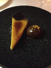 Nagpuri orange tart served with chocolate sorbet