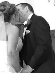 Love is in the air (Sophie Goodfellow) Tags: wedding blackandwhite love church photography fave firstkiss